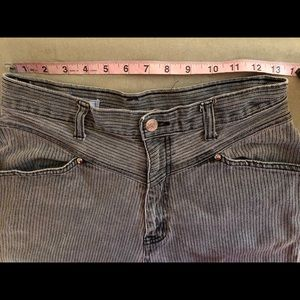 Vintage 1980's High Waisted Pin Stripe Jeans